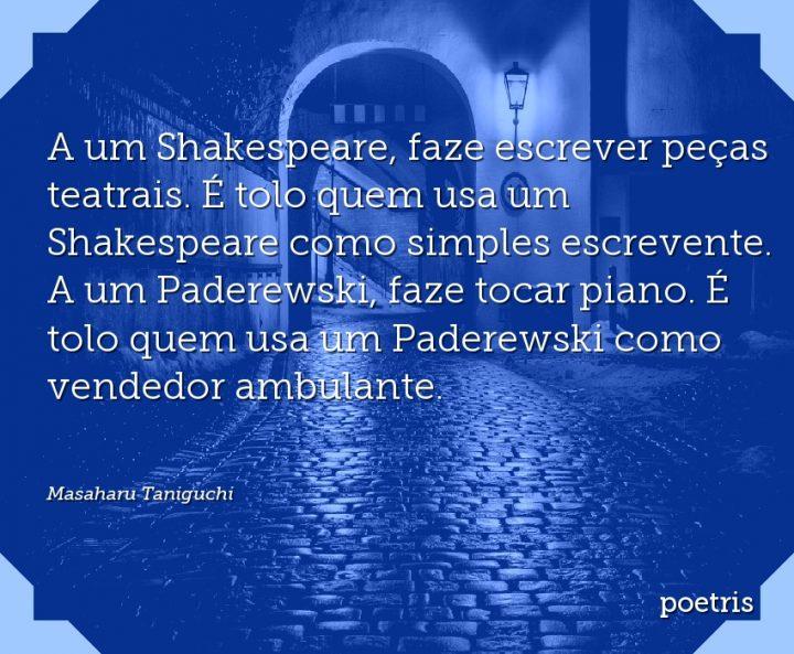 A um Shakespeare, faze escrever peças teatrais