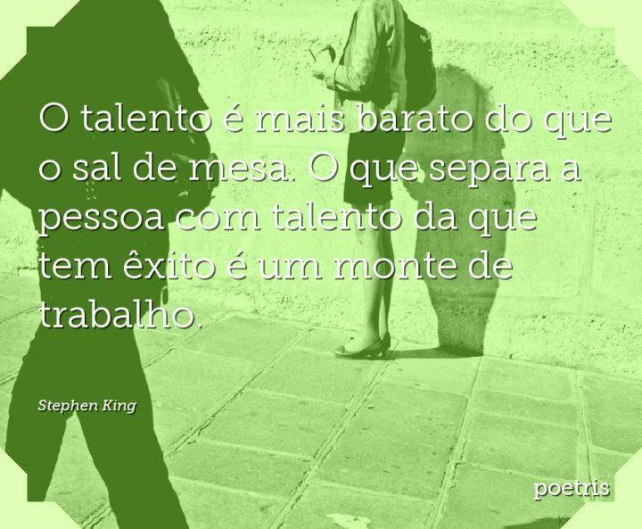 O talento é mais barato do que o sal de mesa