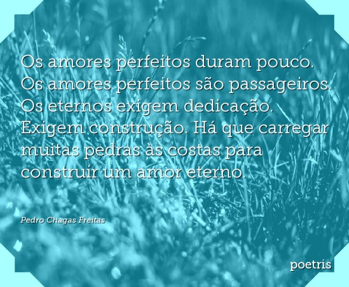 Os amores perfeitos duram pouco. Os amores perfeitos são passageiros