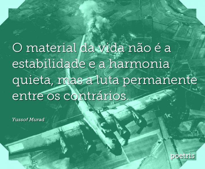 O material da vida não é a estabilidade e a harmonia quieta