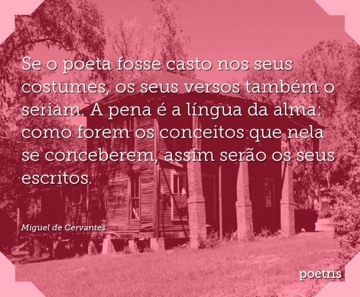 Se o poeta fosse casto nos seus costumes, os seus versos também o seriam