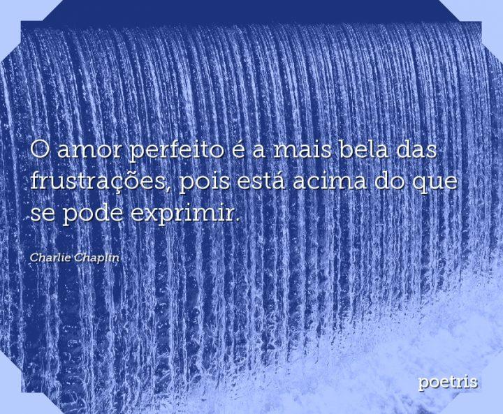 O amor perfeito é a mais bela das frustrações, pois está acima do que se pode exprimir