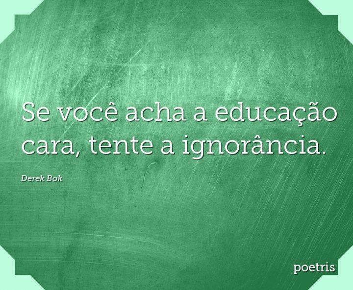 Se você acha a educação cara, tente a ignorância